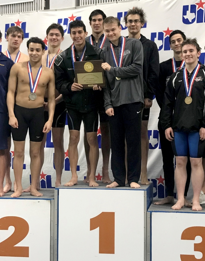 Cedar Park HS Boys 200-Yard Freestyle Relay Win State; CPHS Boys 400-Yard Freestyle Relay Finishes 2nd