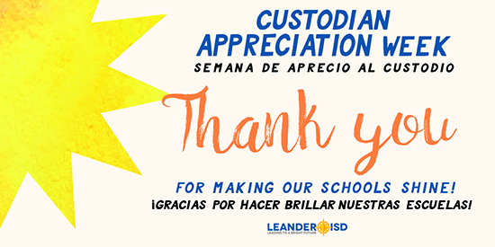 District Celebrates Custodial Staff, Sept. 5-9