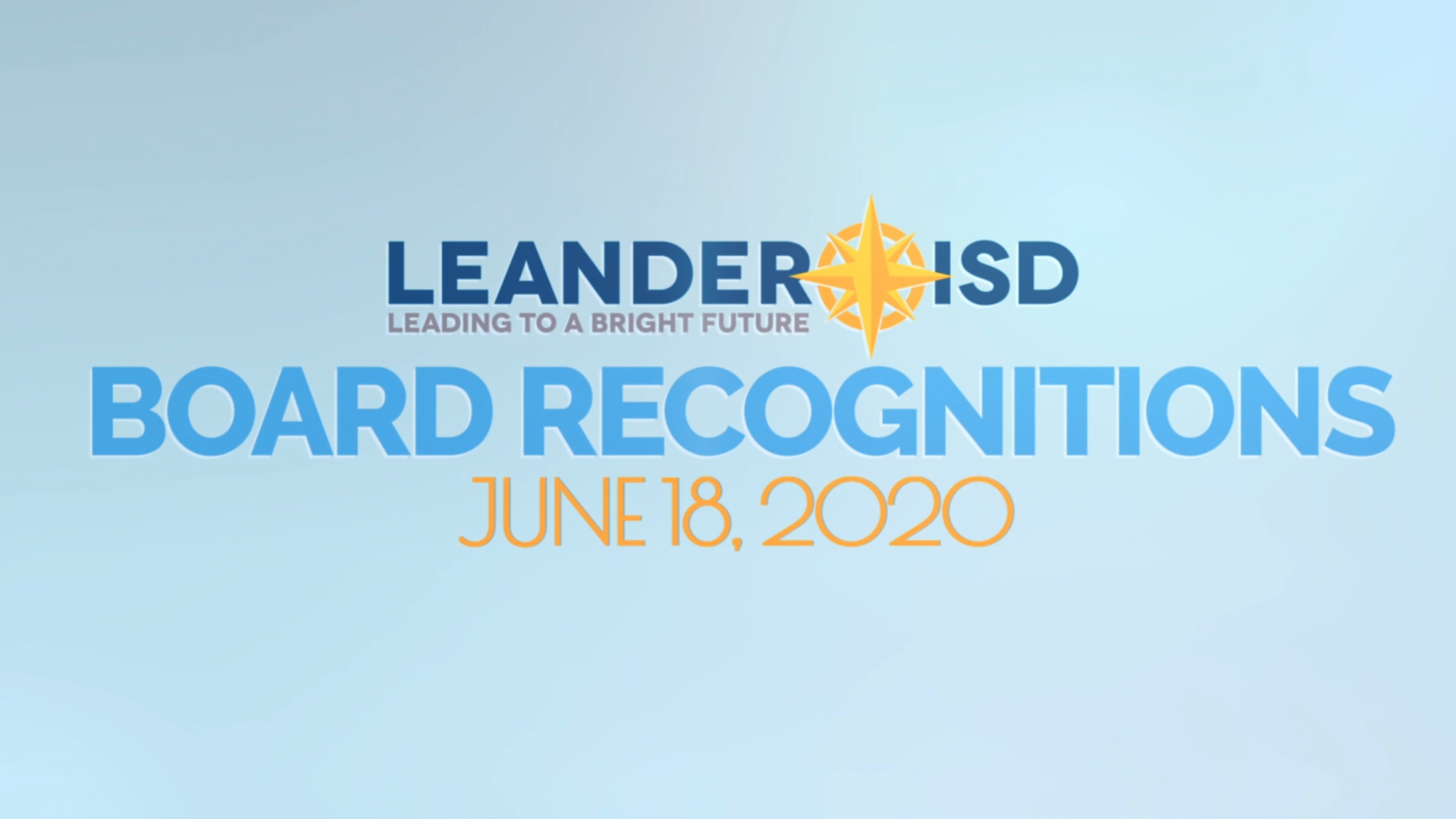 LISD Board Recognitions